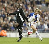 Photo: Aidan Ellis.<br /> Blackburn Rovers v Wigan Athletic. The Barclays Premiership. 01/10/2006.<br /> Blackburn's Robbie Savage and Wigan's Emile Heskey