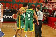DESCRIZIONE : ROMA CAMPIONATO LEGA A1 2004-2005<br />GIOCATORE : ROMBALDONI-ROSSINI<br />SQUADRA : SICC JESI<br />EVENTO : CAMPIONATO LEGA A1 2004-2005<br />GARA : LOTTOMATICA ROMA-SICC JESI<br />DATA : 31/10/2004<br />CATEGORIA : Delusione<br />SPORT : Pallacanestro<br />AUTORE : Agenzia Ciamillo-Castoria