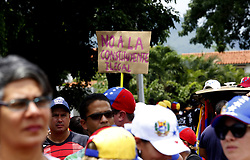May 10, 2017 - Naguanagua, Carabobo, Venezuela - Venezuelans do not leave the streets and protests continue against President Nicolas Maduro. More than a month of street protests calling for the president's departure and convening general elections, in order to elect new authorities throughout the country. Photo: Juan Carlos Hernandez (Credit Image: © Juan Carlos Hernandez via ZUMA Wire)