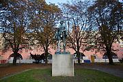 Vienna, Karl-Marx-Hof. The park at 12. Februar-Platz.