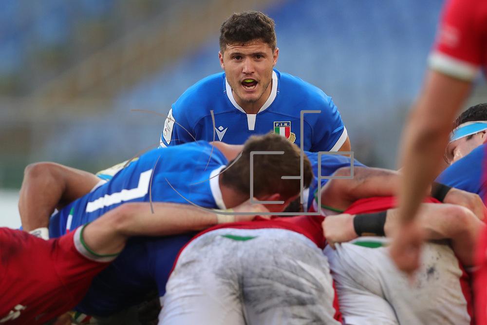 Roma 13/03/2021, Stadio Olimpico<br /> Guinness Six Nations 2021<br /> Italia vs Galles<br /> <br /> Marcello Violi