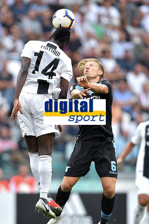 Blaise Matuidi Juventus Lucas Leiva Lazio <br /> Torino 25-08-2018 Allianz Stadium Football Calcio Serie A 2018/2019 Juventus - Lazio Foto Andrea Staccioli / Insidefoto
