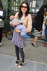 LAUREN KEMP and her son REX at the launch of the Natalia Dress, inspired by Natalia Vodianova to benefit her Naked Heart Foundation held at Caramel Baby&Child, 77 Ledbury Road, London W11 on 16th May 2012.