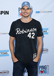 LOS ANGELES, CA, USA - AUGUST 23: 6th Annual PingPong4Purpose held at Dodger Stadium on August 23, 2018 in Los Angeles, California, United States. 23 Aug 2018 Pictured: Robbie Amell. Photo credit: Xavier Collin/Image Press Agency / MEGA TheMegaAgency.com +1 888 505 6342