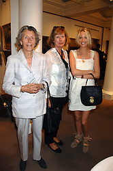 Left to right, LADY MANTON, LADY HESKETH and the HON.SOPHIA HESKETH at the Sotheby's Summer Party 2007 at their showrooms in New Bond Street, London on 4th June 2007.<br /><br />NON EXCLUSIVE - WORLD RIGHTS