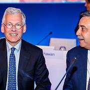 NLD/Amsterdam/20180503 - Aandeelhoudersvergadering Royal Philips 2018 Frans van Houten en Abhijit Bhattacharva