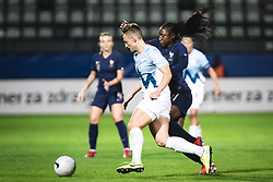 during football match between Slovenia and France in 2nd round of Women's world cup 2023 Qualifying round on 21 of September, 2021 in Mestni stadion Fazanerija, Murska Sobota, Slovenia. Photo by Blaž Weindorfer / Sportida