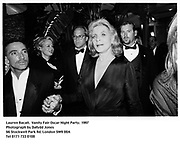 Lauren Bacall.  Vanity Fair Oscar Night Party. 1997<br />Photograph by Dafydd Jones<br />66 Stockwell Park Rd. London SW9 0DA<br />Tel 0171 733 0108