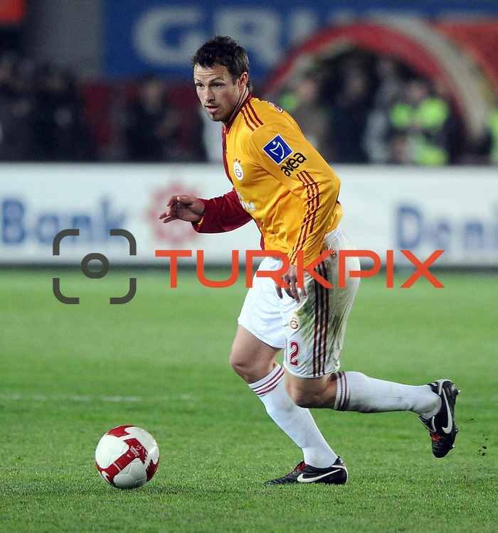 Galatasaray's Lucas NEILL during their Turkish superleague soccer derby match Galatasaray between Fenerbahce at the AliSamiYen Stadium at Mecidiyekoy in Istanbul Turkey on Sunday, 28 March 2010. Photo by TURKPIX