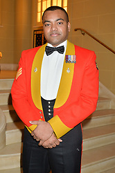 Lance Sergeant JOHNSON BEHARRY VC at a reception to celebrate the Debrett's 500 2015 - a recognition of Britain's 500 most influential people, held at The Club at The Cafe Royal, 68 Regent Street, London on 26th January 2015.