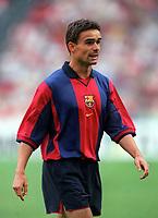Marc Overmars - Barcelona. Barcelona v Lazio. The Amsterdam Tournament. Amsterdam Arena, 5/8/2000. Credit: Colorsport / Stuart MacFarlane.