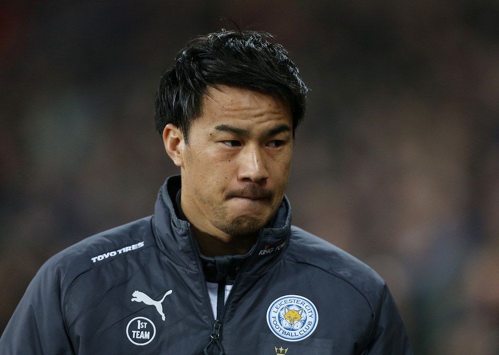 Leicester City's Shinji Okazaki<br /> <br /> Photographer Rob Newell/CameraSport<br /> <br /> The Premier League - West Ham United v Leicester City - Friday 24th November 2017 - London Stadium - London<br /> <br /> World Copyright © 2017 CameraSport. All rights reserved. 43 Linden Ave. Countesthorpe. Leicester. England. LE8 5PG - Tel: +44 (0) 116 277 4147 - admin@camerasport.com - www.camerasport.com