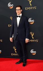 September 18, 2016 - Los Angeles, CA, USA - Andy Andy Samburg arrives at the 68th Annual Emmy Awards at the Microsoft Theater in Los Angeles, California on Sunday, September 18, 2016. (Credit Image: © Michael Owen Baker/Los Angeles Daily News via ZUMA Wire)