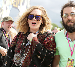 File photo dated 27/06/15 of singer Adele with her husband Simon Konecki backstage at the Glastonbury Festival. Adele has filed for divorce from her husband according to legal documents lodged in Los Angeles on Thursday.