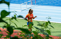 Anne van de Wiel in action during the Press presentation of the olympic team Athletics on July 8, 2021 in Papendal Arnhem