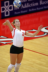 25 AUG 2007: Redhawks Marie Leahy. By a score of 3 games to 1,  Illinois State University Redbirds defeated the Redhawks of Miami of Ohio at Redbird Arena on the campus of Illinois State University in Normal Illinois.