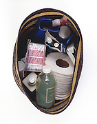 basket of toiletries