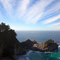 USA, California, Big Sur. Julia Pfeiffer Burns State Park in Big Sur on Pacific Coast Highway 1.