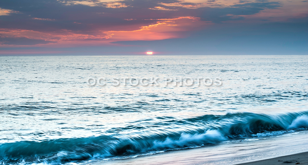 Sundown At Tamarac Beach In Carlsbad