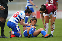 Football - 2018 / 2019 SSE Women's FA Cup - Semi Final: Reading FC Women vs. West Ham United Women<br /> <br /> Reading's Fara Williams gets a cut to the head during a full blooded encounter during the SSE Womens FA Cup semi final at Adams Park <br /> <br /> COLORSPORT/SHAUN BOGGUST