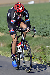 October 9, 2016 - Tours, FRANCE - TOURS, FRANCE - OCTOBER 9 : BARGUIL Warren (FRA) Rider of TEAM GIANT - ALPECIN in action during  the 110th edition of the Paris-Tours cycling race with start in Dreux and finish in Tours on October 09, 2016 in Tours, France, 9/10/2016 (Credit Image: © Panoramic via ZUMA Press)