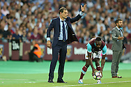 Slaven Bilic, the West Ham United manager giving directions from the touchline.UEFA Europa league, 3rd qualifying round match, 2nd leg, West Ham Utd v NK Domzale at the London Stadium, Queen Elizabeth Olympic Park in London on Thursday 4th August 2016.<br /> pic by John Patrick Fletcher, Andrew Orchard sports photography.