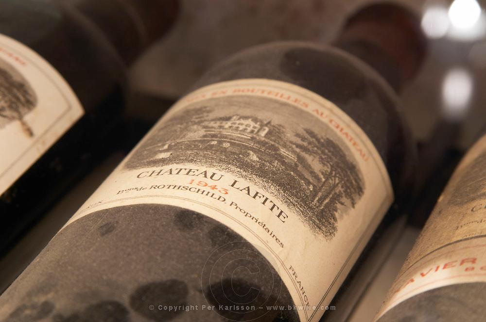 Chateau Lafite 1943 from Pauillac, Medoc, Bordeaux in a collection of all vintages of Bordeaux first growth clarets.  Ulriksdal Ulriksdals Wärdshus Värdshus Wardshus Vardshus Restaurant, Stockholm, Sweden, Sverige, Europe