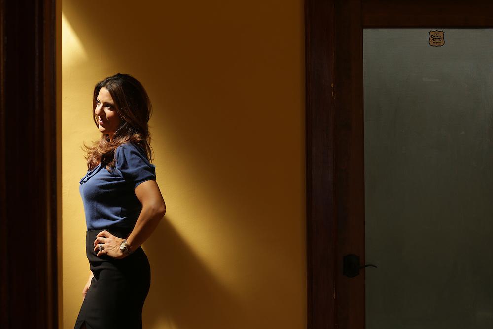 Private investigator Bari Kroll in her Long Branch office.<br /> 8/26/14 John O'Boyle / The Star-Ledger