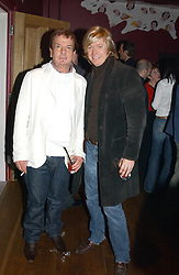 Left to right, NICKY HASLAM and NICKY CLARKE at a party to celebrate the publication of Paul McKenna's new book 'I Can Make You Thin' held at the Soho Hotel, 4 Richmond Mews, London W1 on 8th March 2005.<br /><br />NON EXCLUSIVE - WORLD RIGHTS