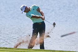 September 21, 2018 - Atlanta, Georgia, United States - Xander Schauffele hits a fairway shot on the 8th hole during the second round of the 2018 TOUR Championship. (Credit Image: © Debby Wong/ZUMA Wire)