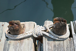 rope on a dock by the water