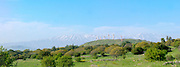 Panoramic view of the Golan Heights, Israel