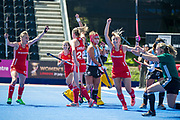 England v Argentina, Lee Valley Hockey and Tennis Centre, London, England on 10 June 2017. Photo: Simon Parker