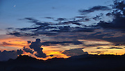 Skyscape at sunset, Laos