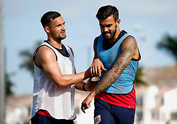 Bailey Wright of Bristol City jokes with Marlon Pack - Mandatory by-line: Matt McNulty/JMP - 20/07/2017 - FOOTBALL - Tenerife Top Training Centre - Costa Adeje, Tenerife - Pre-Season Training
