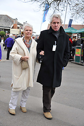 DAME JUDI DENCH and DAVID MILLS at the Hennessy Gold Cup at Newbury Racecourse, Berkshire on 26th November 2011.