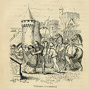 William's [The Norman] Love-making with MATILDA OF FLANDERS. From the Book 'Danes, Saxons and Normans : or, Stories of our ancestors' by Edgar, J. G. (John George), 1834-1864 Published in London in 1863