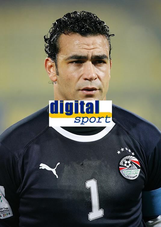 Photo: Steve Bond/Richard Lane Photography.<br />Egypt v Sudan. Africa Cup of Nations. 26/01/2008. Essam El Hadary, Egypt keeper and skipper