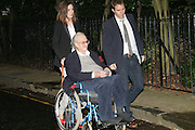 SIR JOHN MORTIMER AND HIS DAUGHTER EMILY MORTIMER, Sir David and Lady Carina Frost annual summer party, Carlyle Sq. London. 5 July 2007  -DO NOT ARCHIVE-© Copyright Photograph by Dafydd Jones. 248 Clapham Rd. London SW9 0PZ. Tel 0207 820 0771. www.dafjones.com.