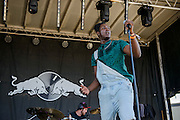 Mike Taylor performing at the Red Bull Sound Select stage at the Firefly Music Festival in Dover, DE on June 20, 2014.