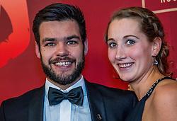 21-12-2016 NED: Sportgala NOC * NSF 2016, Amsterdam<br /> In de Amsterdamse RAI vindt het traditionele NOC NSF Sportgala weer plaats / Sjinkie Knegt (Bantega, 5 juli 1989) is een Nederlands shorttracker. Sjinkie met partner Fenna van der Wal