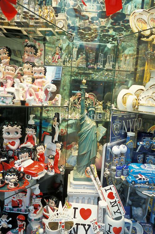 interior of New York City souvenir shop