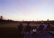 Enjoying the sunset with martinis and cigars at the Lodge at Bandon Dunes Golf Resort, Bandon, OR