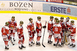 21.03.2017, Eiswelle, Bozen, ITA, EBEL, HCB Suedtirol Alperia vs UPC Vienna Capitals, Playoff, Halbfinale, 4. Spiel, im Bild Spieler des HCB Südtirol nach dem Spiel // during the Erste Bank Icehockey League, playoff semifinal 4th match between HCB Suedtirol Alperia and UPC Vienna Capitals at the Eiswelle in Bozen, Italy on 2017/03/21. EXPA Pictures © 2017, PhotoCredit: EXPA/ Johann Groder