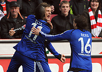 Fotball<br /> Tyskland<br /> 06.02.2010<br /> Foto: Witters/Digitalsport<br /> NORWAY ONLY<br /> <br /> Jubel 0:1 v.l. Eljero Elia, Torschuetze Marcell Jansen, Marcus Berg HSV<br /> <br /> Bundesliga 1. FC Köln - Hamburger SV
