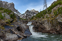 There are many waterfalls and rapids along the trail to Elk Lake in the Beartooth Mountains. This one was the biggest.