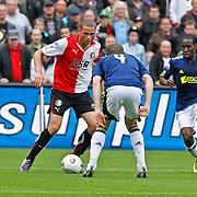 NLD/Rotterdam/20100919 - Voetbalwedstrijd Feyenoord - Ajax 2010, Stefan de Vrij in duel met Jan Vertonghen en Vurnon Anita