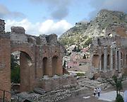Ruins of the Greek Theatre (Teatro Greco), Taormina, Sicily