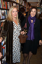 Left to right, author ISABEL WOLFF and ROZ HANNA at a party to celebrate the publicarion of The Meaning of Tingo by Adam Jacot de Boinod held at the Daunt Bookshop, 83 Marylebone High Street, London on 18th October 2005.<br /><br />NON EXCLUSIVE - WORLD RIGHTS