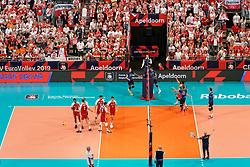 21-09-2019 NED: EC Volleyball 2019 Poland - Spain, Apeldoorn<br /> 1/8 final EC Volleyball / Team Poland, Wilfredo Leon Venero #9 of Poland, Michał Kubiak #13 of Poland, support